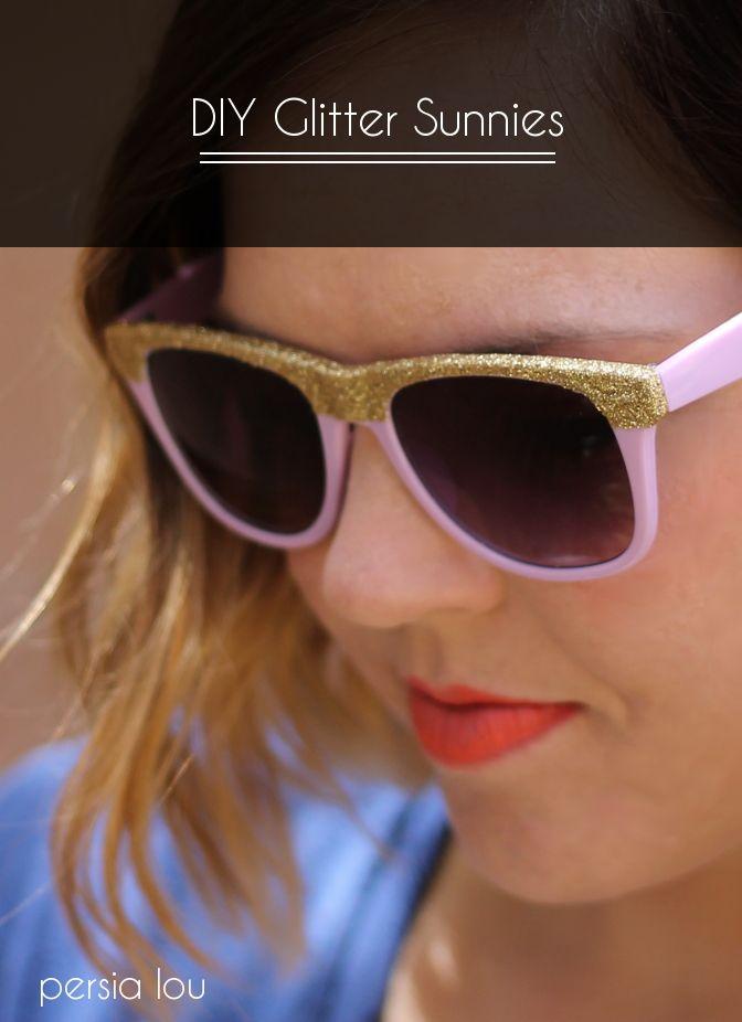 DIY Glitter Sunglasses Tutorial by Persia Lou