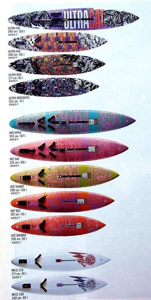 Windsurfing Brochures Ads 80 S Early 2000 S F2 Fanatic Hi Fly Aquata Bic Magnum Tornado Windspeed Part1 Windsurfing Kite Surfing Surfing