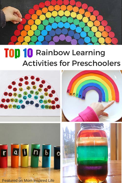 Top 10 rainbow learning activities for preschoolers for Educational crafts for preschoolers