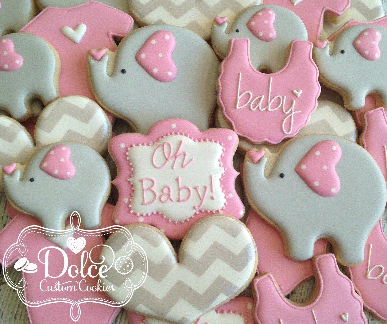 Dolce - Elephant Baby Shower | Baby Shower Cookies ...