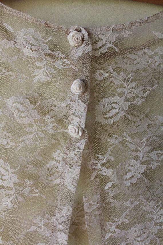 Bolero, lace with roses bolero