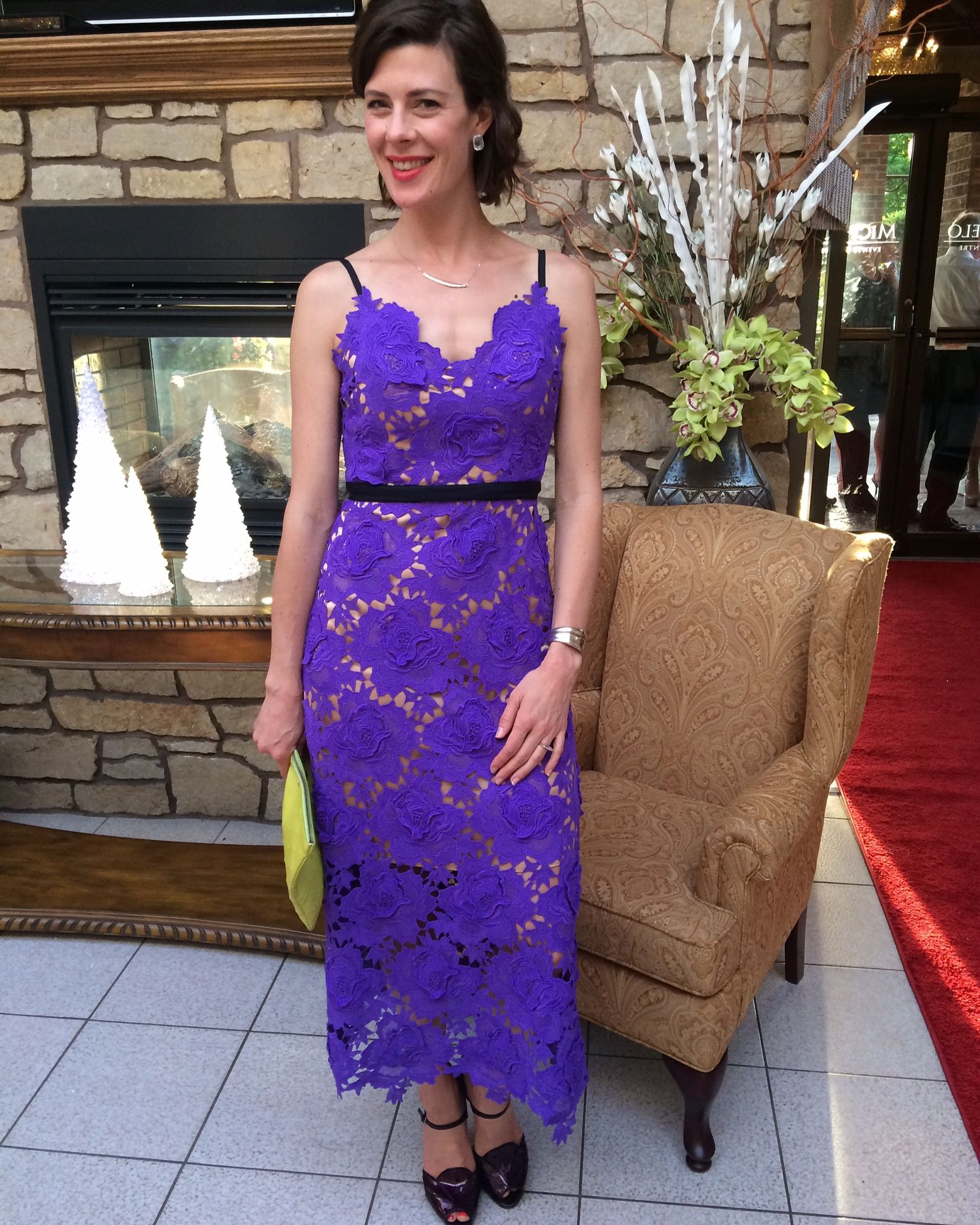 Customer of the Week, Caitlin wore our Royal Violet and Lace Dress ...