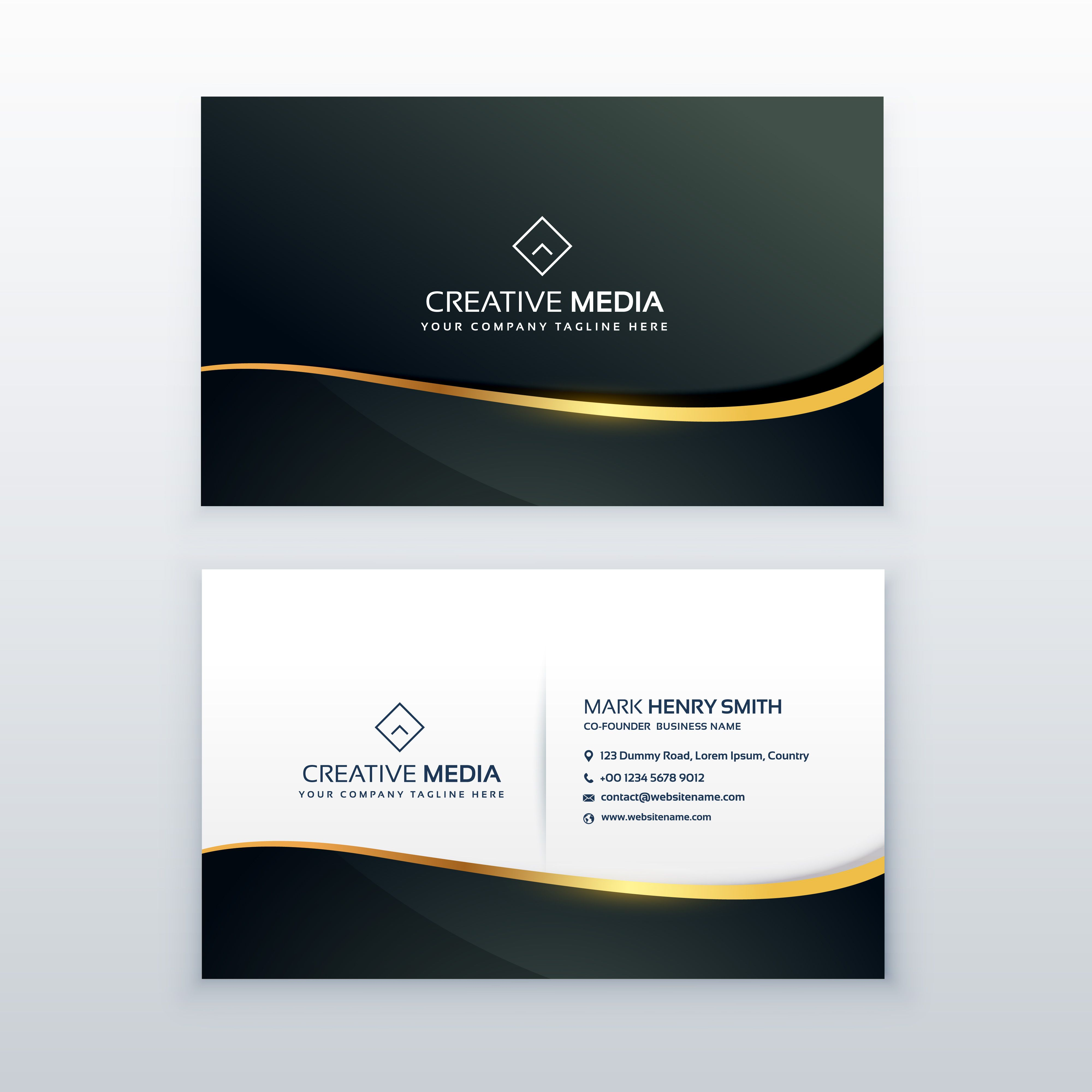 Premium Business Card Design Template Visitenkarten