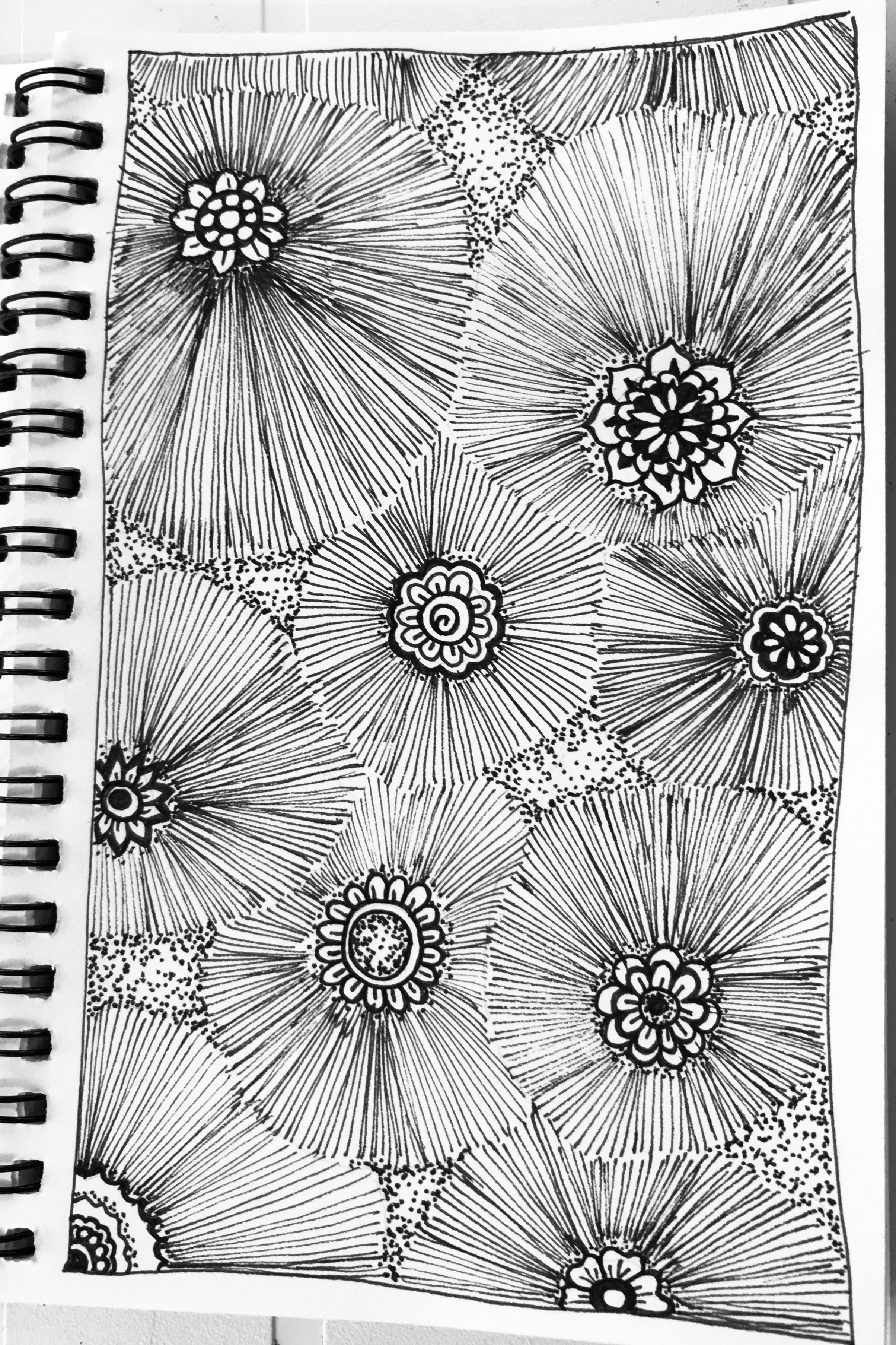 Tesselate A Similar Design For Printing Zentangle Drawings