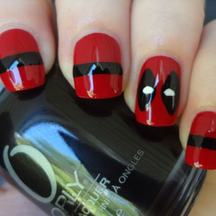 Deadpool Nails for a female fan - Deadpool Nails For A Female Fan Current Obsession: Super Heroes