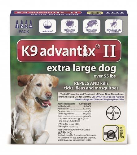 New K9 Advantix Ii Extra Large Xl Dog 4 Pack Month For Dogs Over 55lbs Read More Reviews Of The Product By Visiting The Link On The Image Fleas