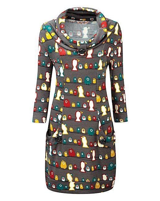 49737bf24b52 Joe Browns Bird Print Tunic | Fashion World | Big Girl Gear | Joe ...