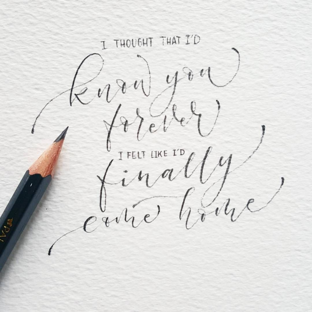letteritfebruary pencilcalligraphy
