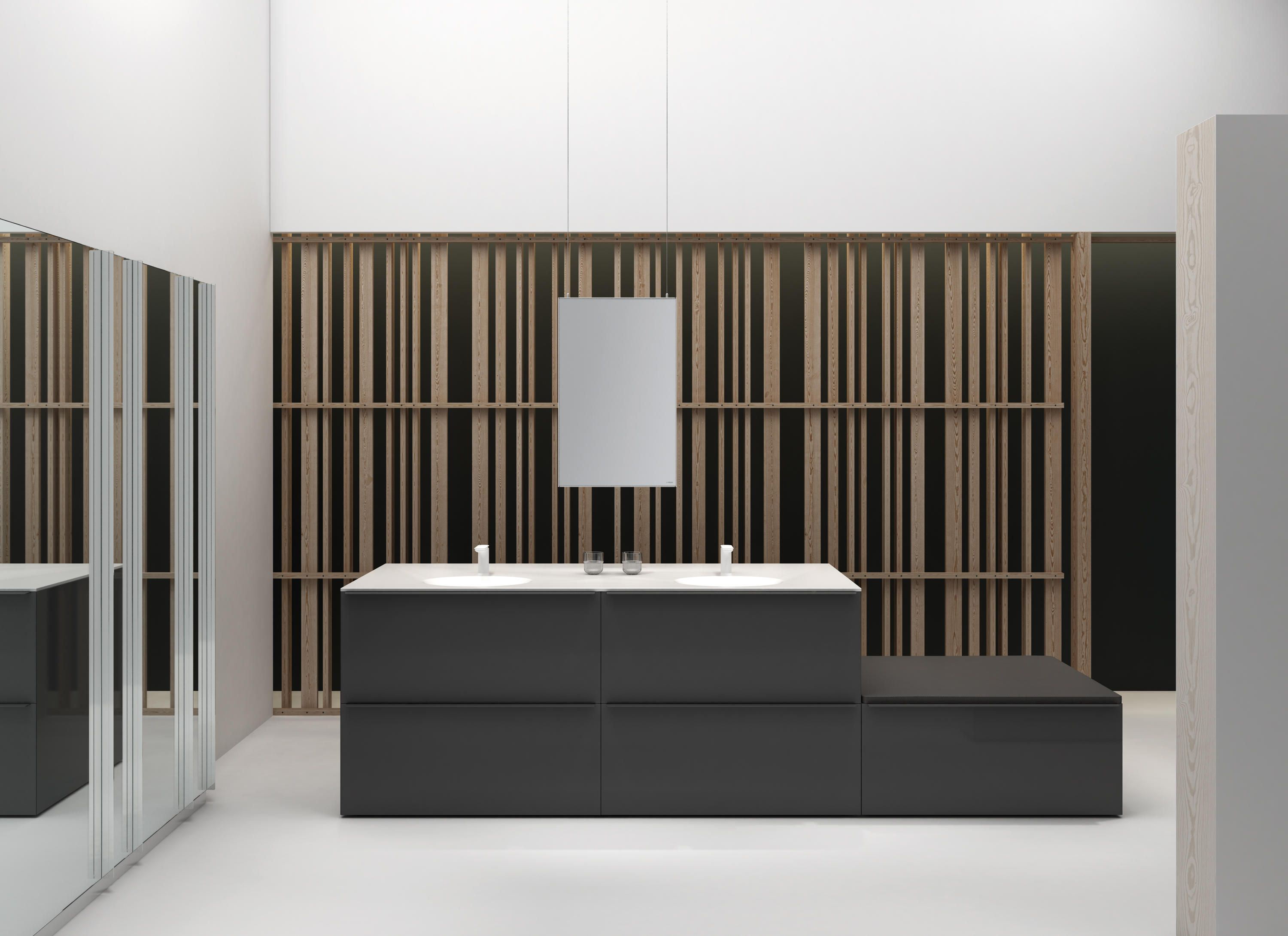 The KA collection answers to the preoccupation of procuring a warm and domestic place in the bathroom, capable of matching the same level of importance..