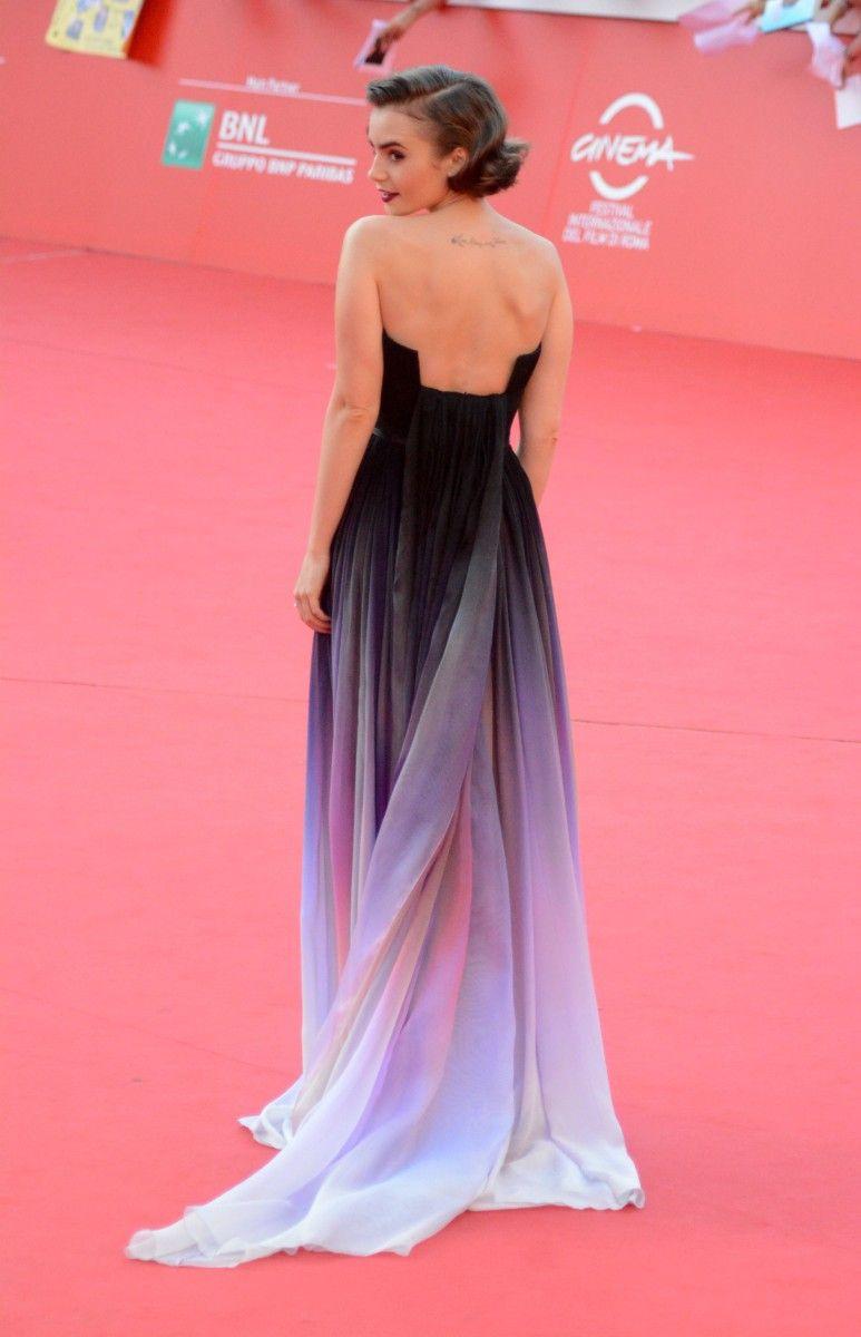 Lily Collins - Elie Saab couture | Haute Dresses | Pinterest