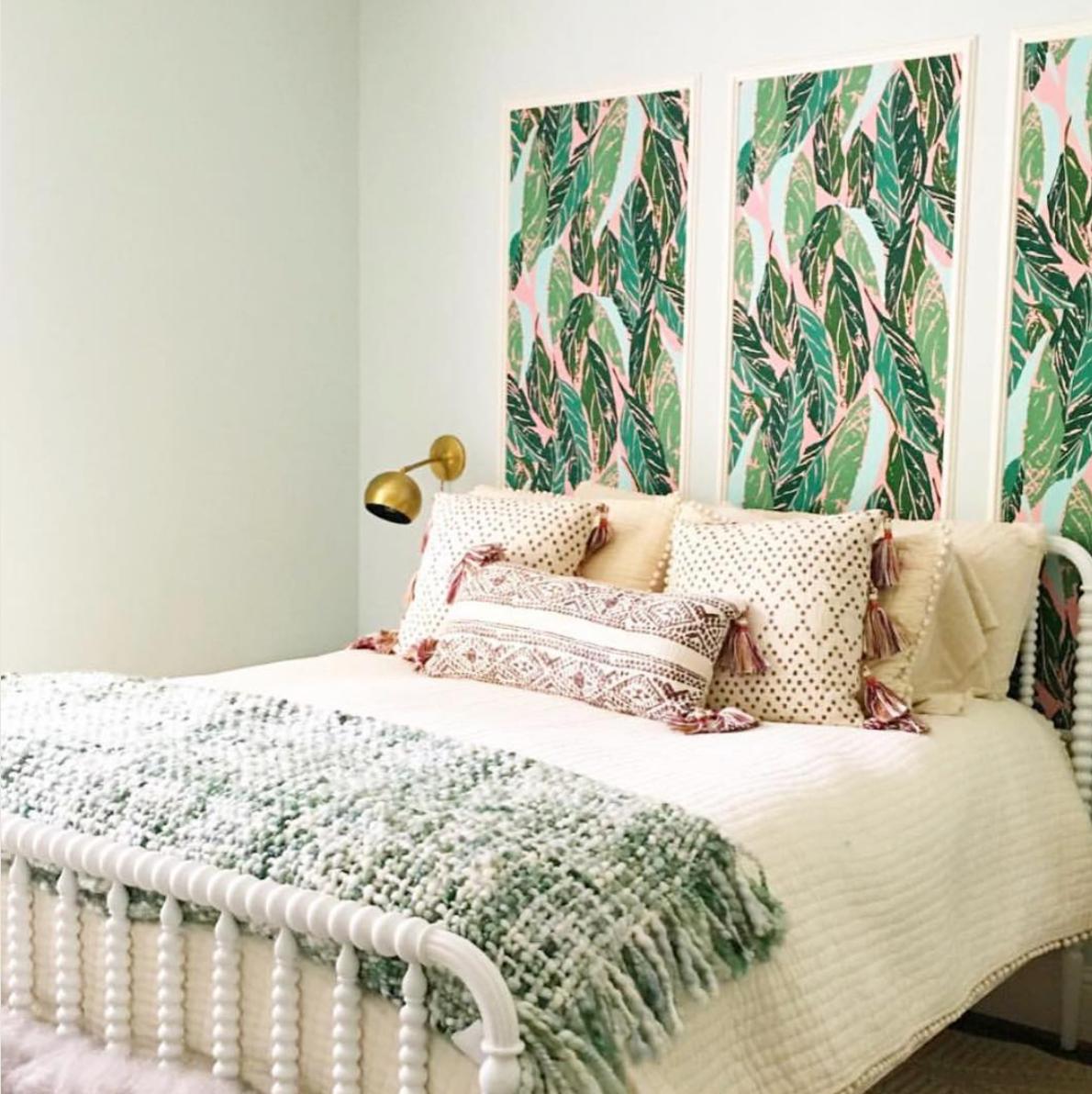 Nana (Pink) framed wallpaper panels Framed wallpaper