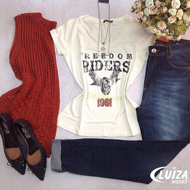 Fim de semana com muito mais estilo, vá de look Luiza Modas! Lembrando que hoje atendemos até as 18:00! Corre que ainda dá tempo!  #luizamodas #moda #tendencia #estilo #novidade #lookdodia #lookinspiracao #vendasonline #previewoutono #venhaseapaixonar