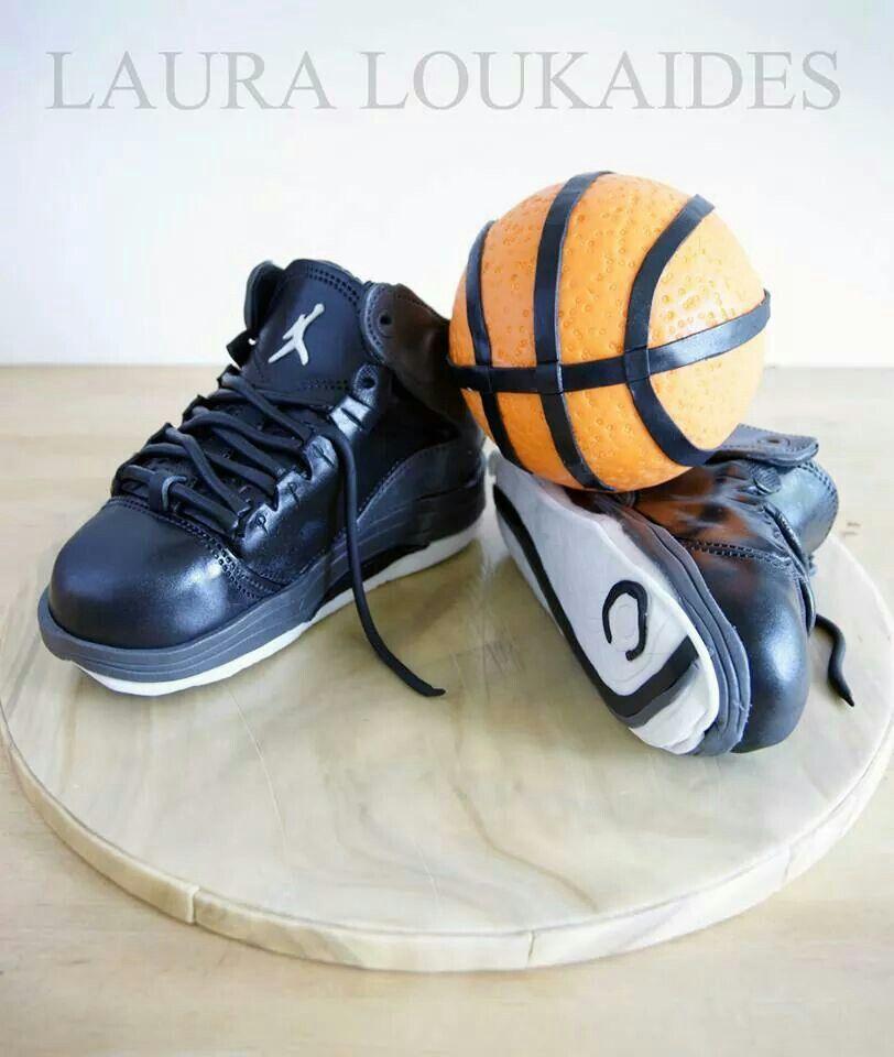 Basketball & Shoes Cake