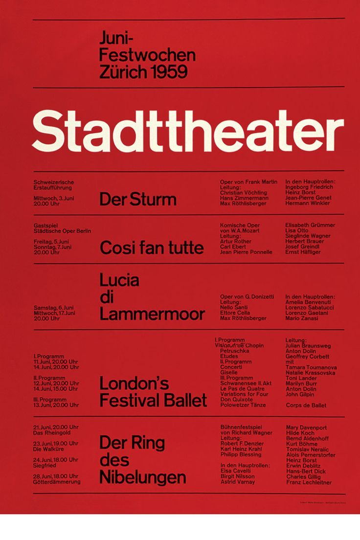 Typography Poster Typografie Design Der Ring Des Nibelungen Typografische Gestaltung