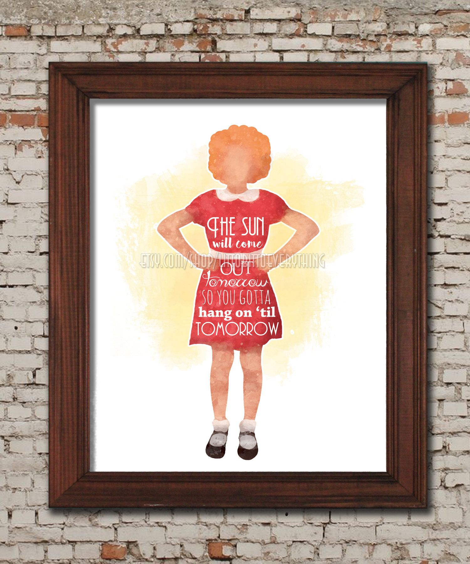 Tomorrow Orphan Annie Printable 8x10 Poster Digital
