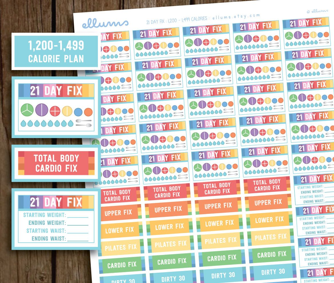 pastel 21 day fix printable planner stickers beachbody 21 day fix 1200 1499