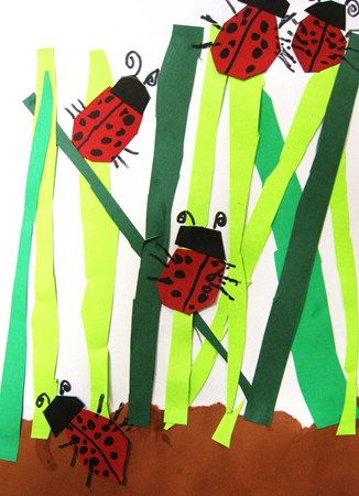 Lady bugs kindergarten   Spring art   Art lessons elementary, Insect