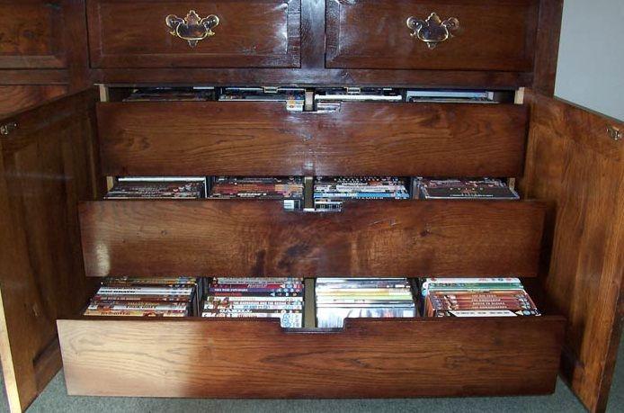 dvd storage ideas cabinet drawers   Organization Nation   Pinterest