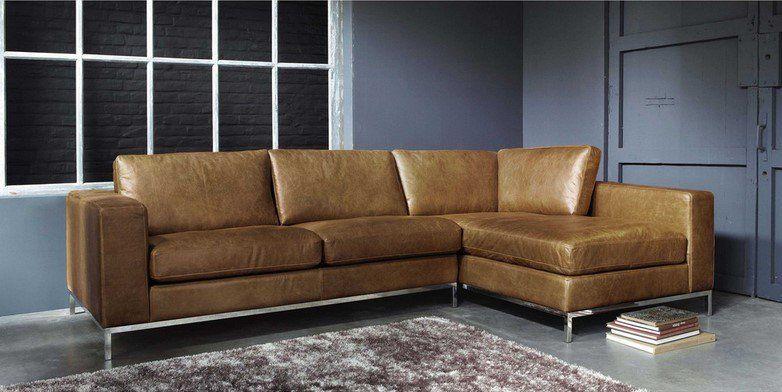 canap d 39 angle vintage 4 places jack en cuir camel. Black Bedroom Furniture Sets. Home Design Ideas
