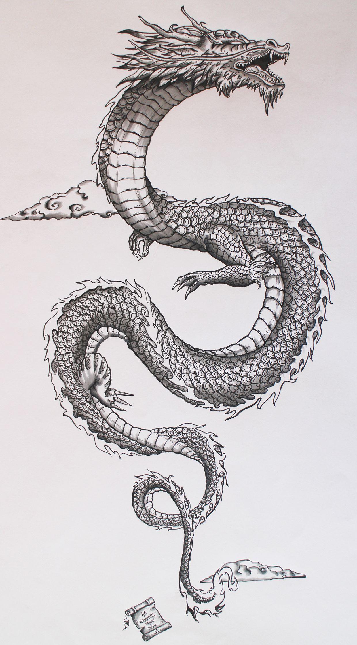 Welsh dragon tattoo designs - My Personal Interpretation Of The Traditional Japanese Dragon