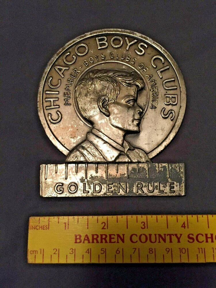 Vintage Chicago Boys Clubs Member License Plate Topper