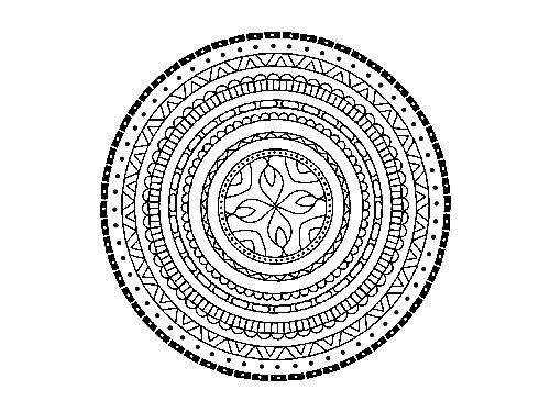 Eines Von 20 Indischen Mandalas Kostenlos Zum Ausdrucken Klicke Auf