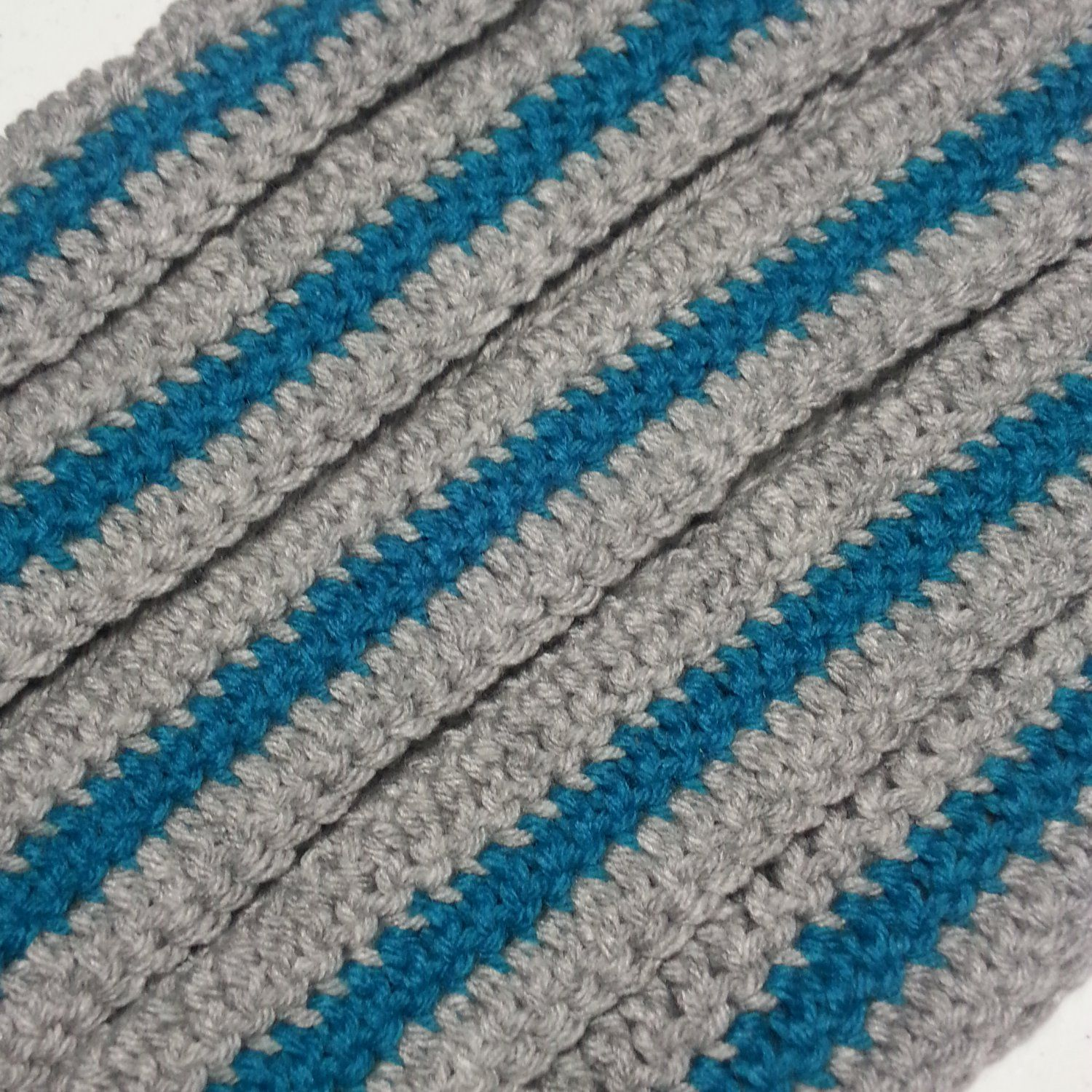 Crocheted+Grey+with+Teal+Stripe+Coat+Hanger+Cover+Set   List Love ...