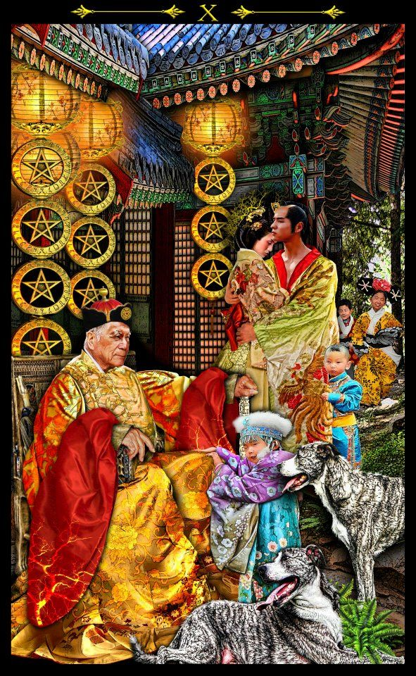 Ten Of Pentacles P3 This Is A Man Who Has Accomplished A