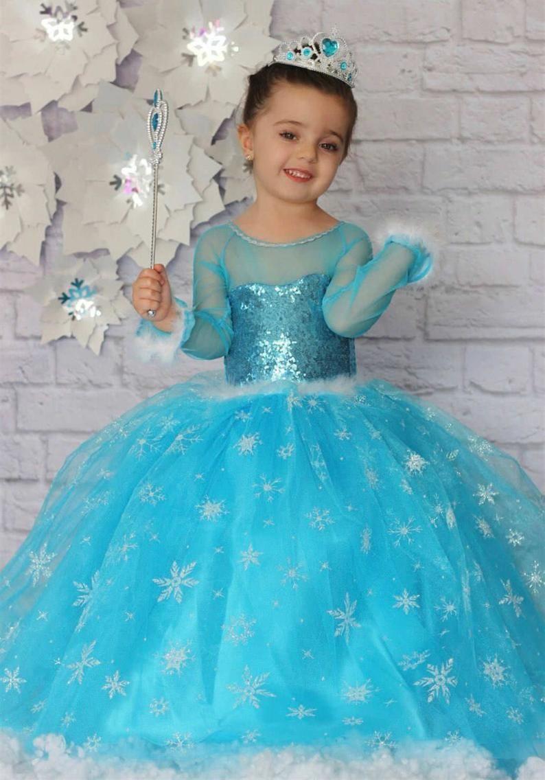 Frozen Elsa Inspired Dress Elsa Tutu Toddler Girl Handmade