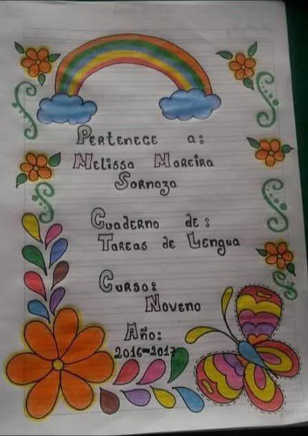 Caratulas Para Cuadernos De La Web Colorful Borders Design Flower Drawing Design Notebook Cover Design