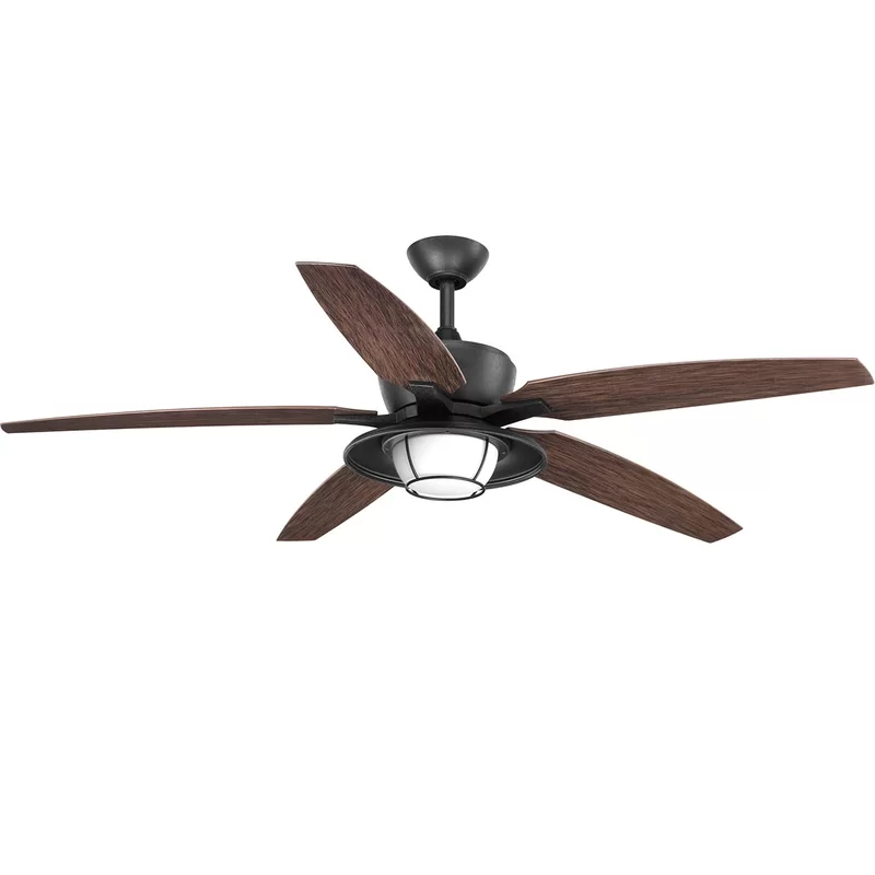 60 Milmont 5 Blade Outdoor Led Ceiling Fan With Remote Light Kit