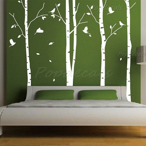 Hot Sale Tree Wall Murals Living Room Wall Decals Office Tree Decals Nature  Trees Decal  Part 10