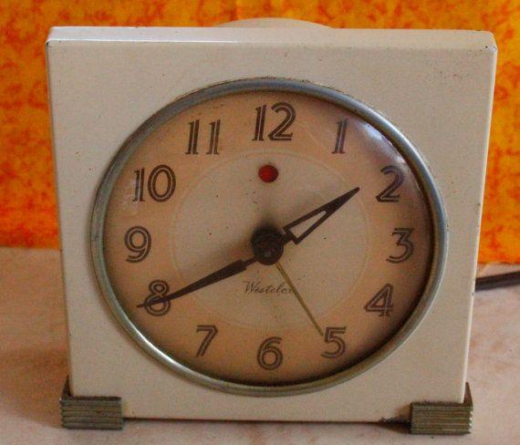 Vintage 1940s Art Deco WESTCLOX Logan Alarm Cock  Works by 2BEB, $30.00