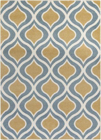 Horizon Mustard, Slate Blue, U0026 Cream Rug Design By Surya