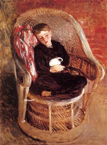 Portrait of Gordon Fairchild - John Singer Sargent - Completion Date: 1890
