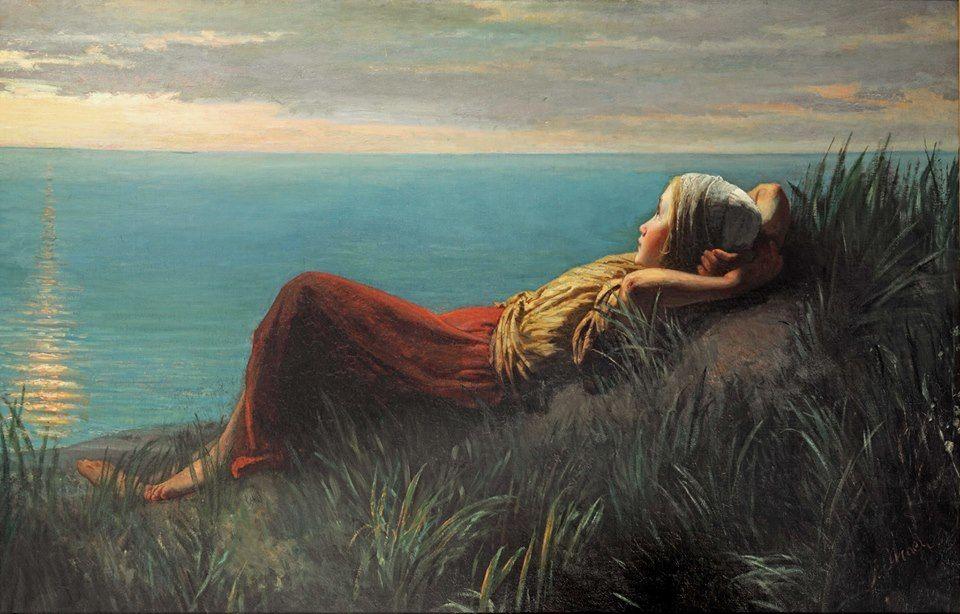 """Dit coverschilderij is van josef Israels en heet:"""" Dromen."""" 1860; particuliere collectie;"""
