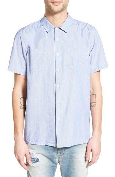 Obey 'Villa' Trim Fit Stripe Woven Shirt