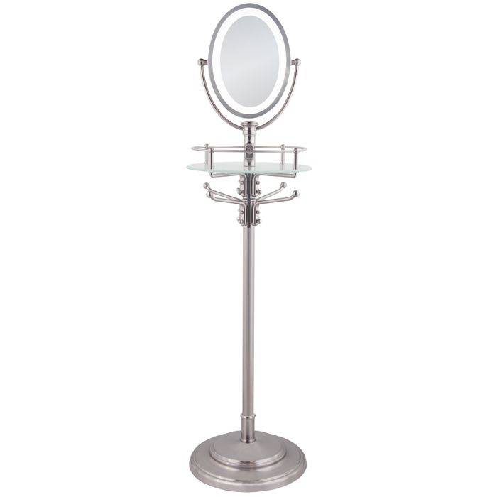 Zadro Cordless Led Lighted Floor Stand Makeup Mirror