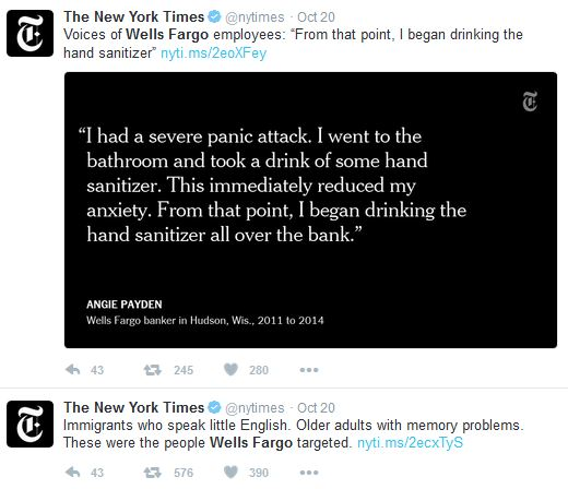 Wells Fargo has been embroiled in a scandal for weeks and is