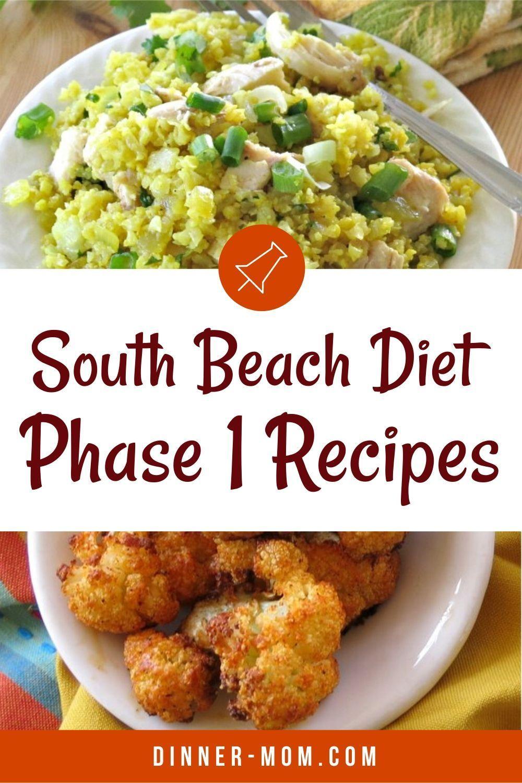 South Beach Phase 1 Diet Recipes South Beach Diet Recipes Beach Dinner Recipes South Beach Phase 1