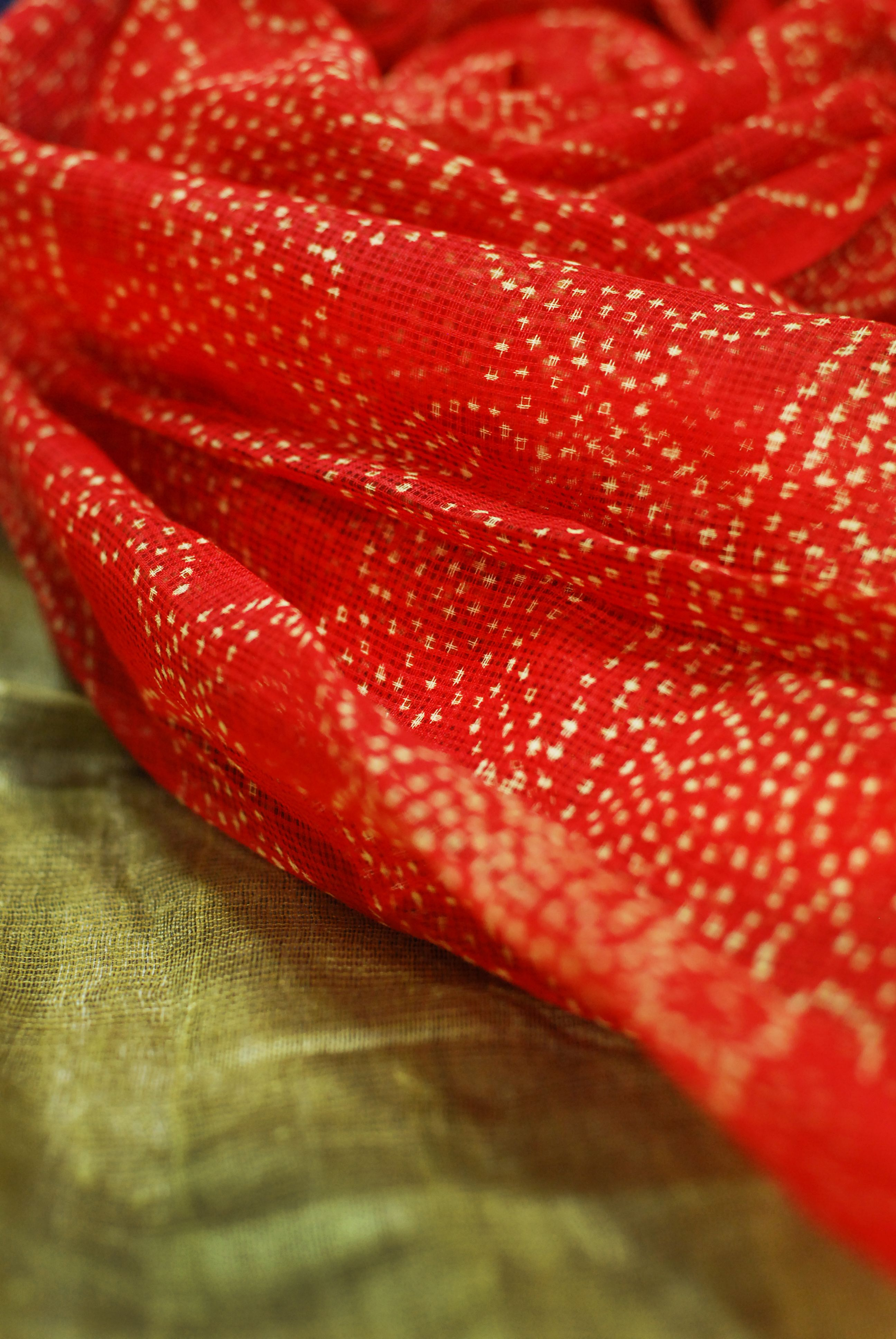 Dupattas in #red for #shadesofspring, #gond, #festive, only at #fabindia