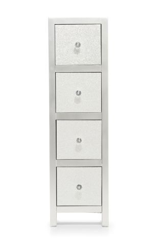 Glitter 4 Drawer Storage Unit from Next | bedroom ideas | 4 drawer ...