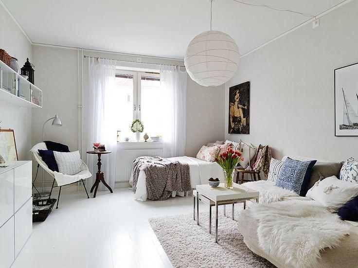Idei de design pentru garsoniera One room apartment design ideas ...