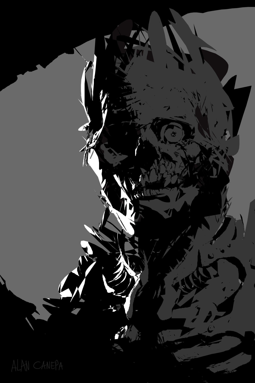 ArtStation - Undead king, Alan Canepa   Character Spazz