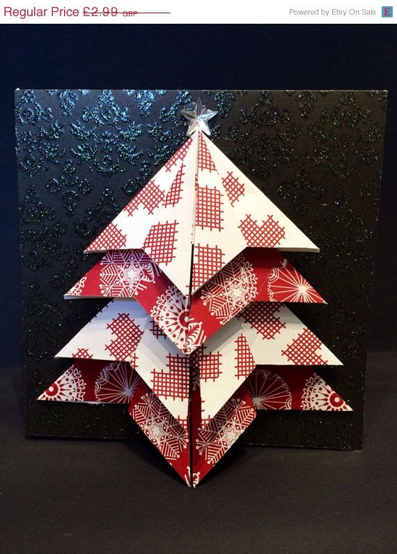 sale christmas card handmade origami by dreamalittledream89 254 - Cheapest Christmas Cards