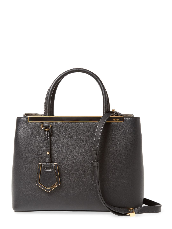 ec132757e956 FENDI WOMEN S 2JOURS PETITE LEATHER TOTE - BLACK.  fendi  bags  shoulder  bags  hand bags  leather  tote  lining