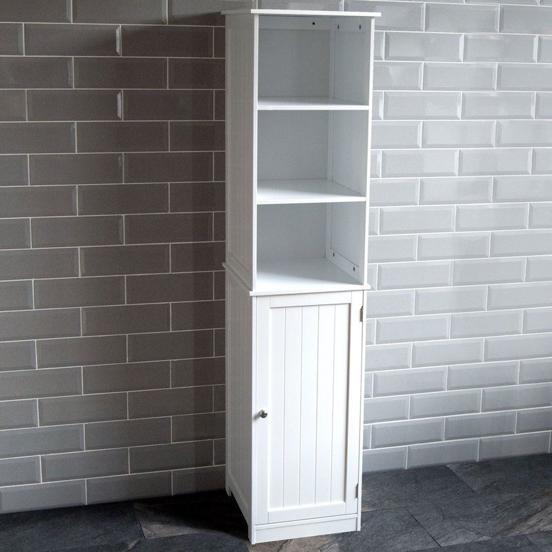 Vida Priano 40 X 160cm Free Standing Tall Bathroom Cabinet Tall Cabinet Storage White Bathroom Storage Bathroom Storage Units