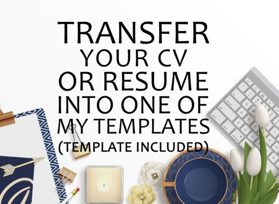 I Can Put Your CV into any Template From My by SerendipityStoreUK - professional services resume