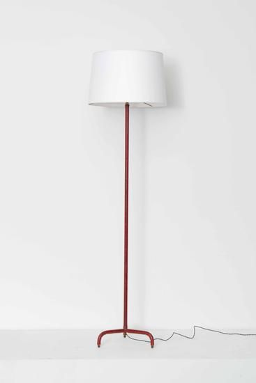 Jacques Adnet Red Leather Floor Lamp Floor Lamps Collections Magen H Gallery Floor Lamp Lighting Home Remodeling