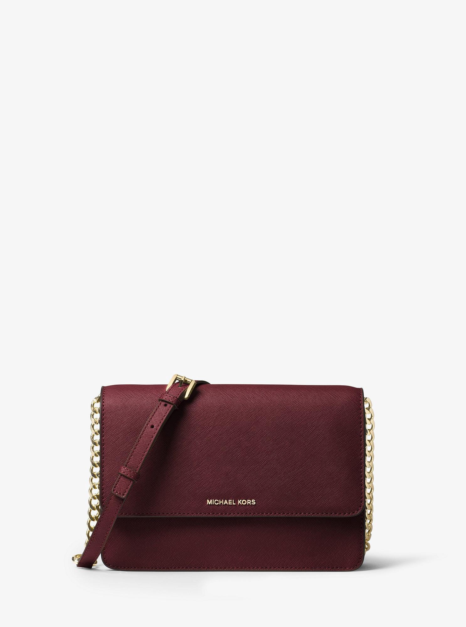 f28f00b2e842 Michael Kors Daniela Large Leather Crossbody - Admiral | Products ...